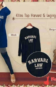 ELLIZA TOP HARVARD + LEGGING HIJABERS